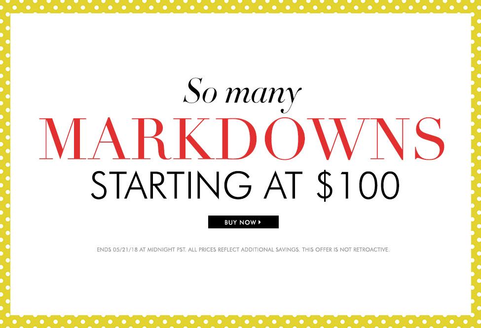 May 21 - MD's starting at $100 - BUY