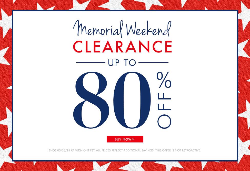 May 25 & 26 - Memorial Weekend Clearance - BUY