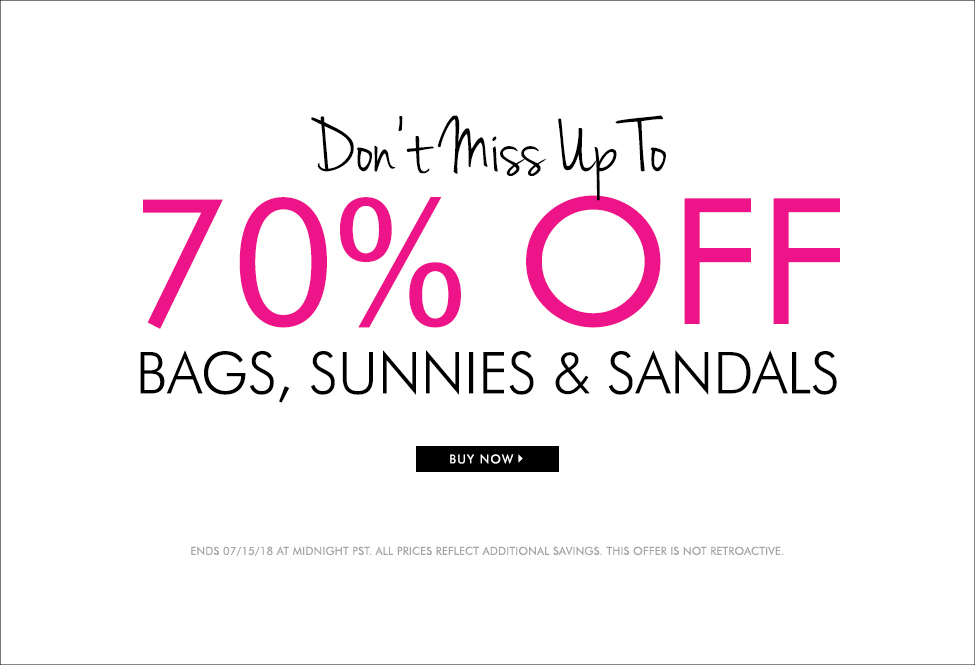 July 15 - Bags, Sunnies, Sale up to 70% - BUY