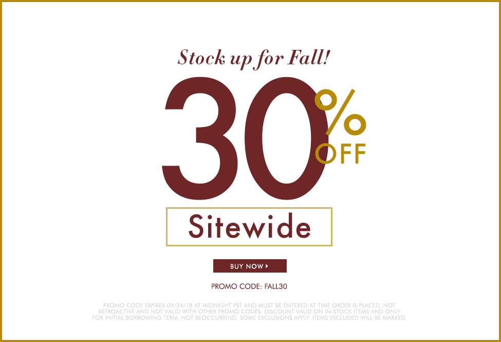 Sept 24 - 30% off - SITEWIDE