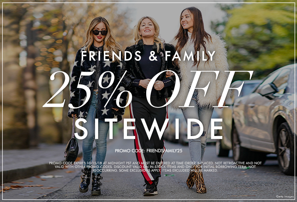Oct 14 & 15 - Friends and Family 25% - SITEWIDE