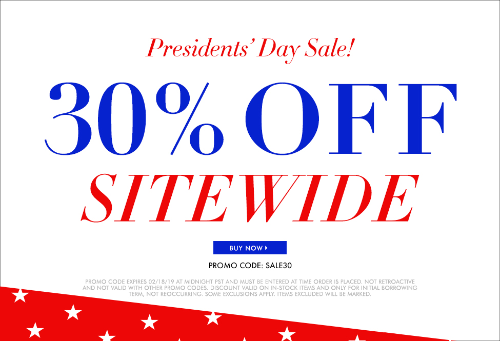Feb 18 – EXTRA 30% OFF SITEWIDE • Presidents' Day Sale!