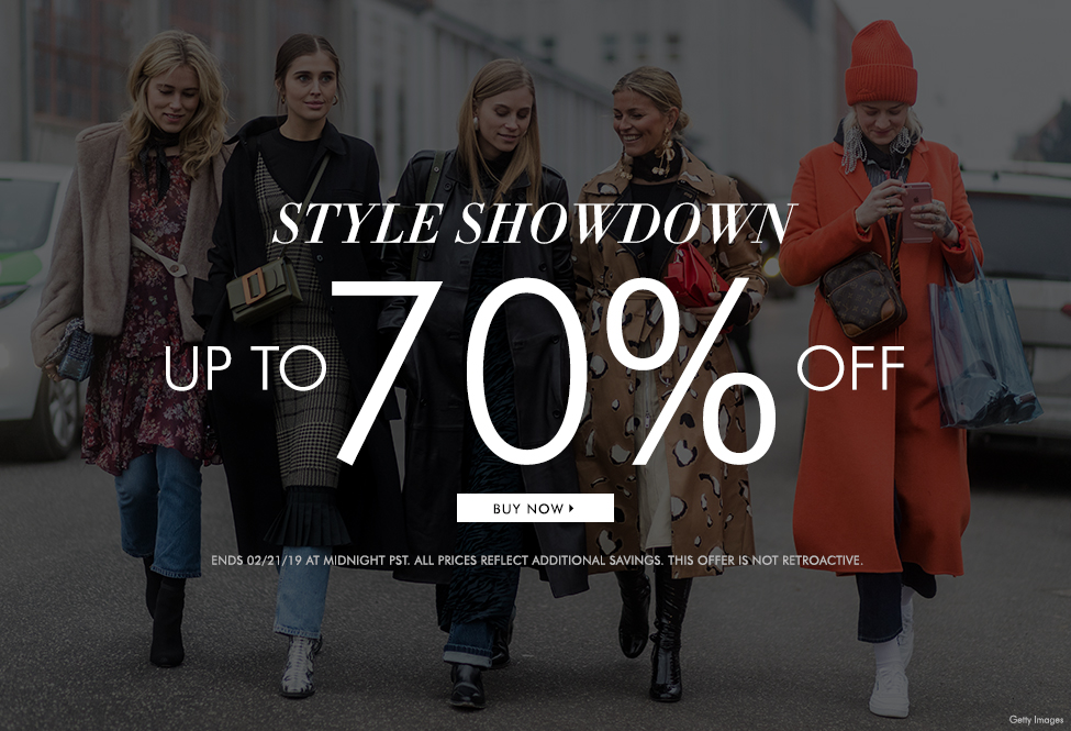 Feb 21 - Style Showdown up to 70% off - BUY