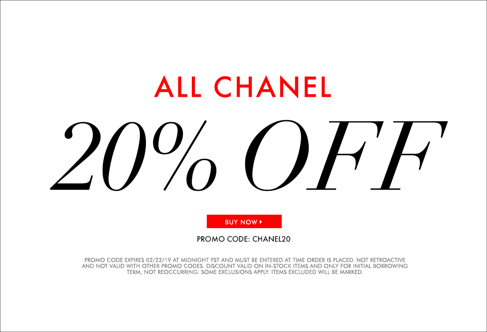 Feb 22 - 20% off All Chanel - Sitewide