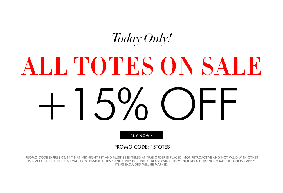 March 19 - All TOTES on SALE + 15% OFF - SITEWIDE