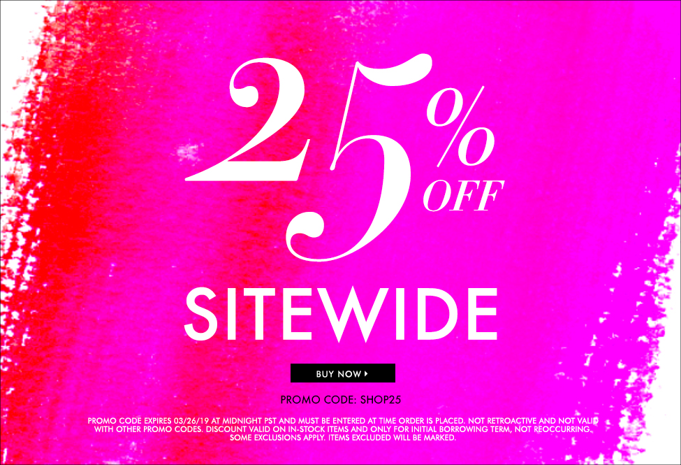 March 26 - EXTRA 25% off SITEWIDE