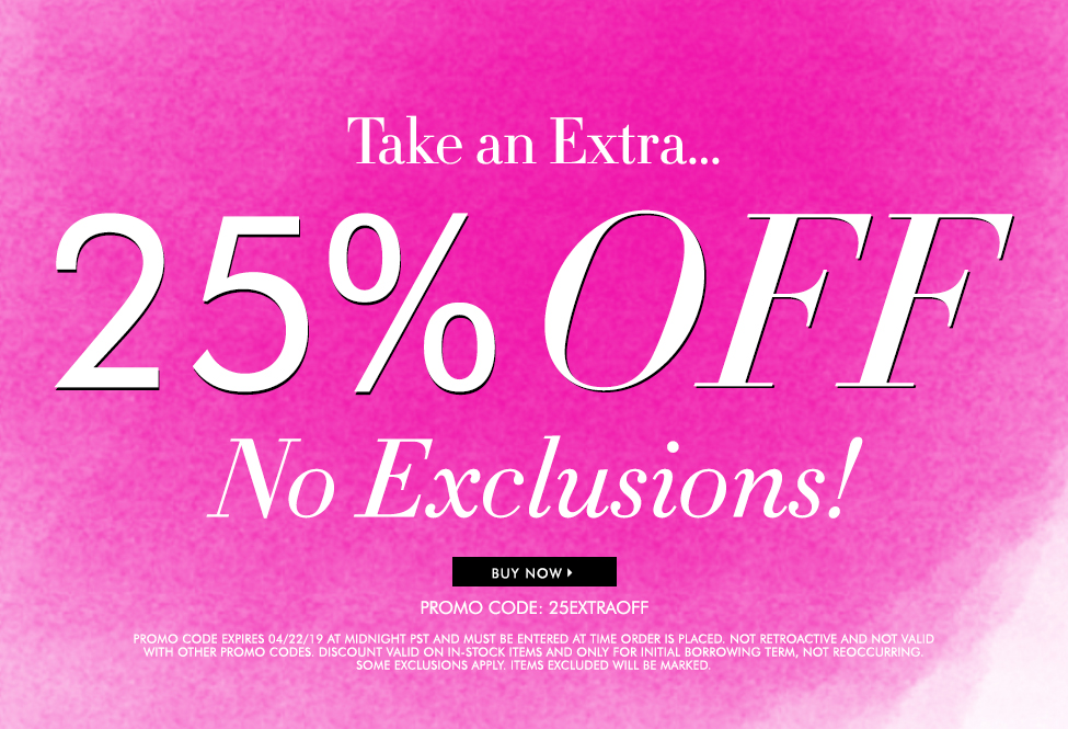 April 21 and 22 - Sitewide 25% off No Exclusions - SITEWIDE