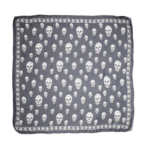 Alexander McQueen Silk Skull Print Scarf