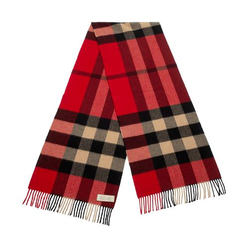 Burberry Cashmere Check Large Scarf