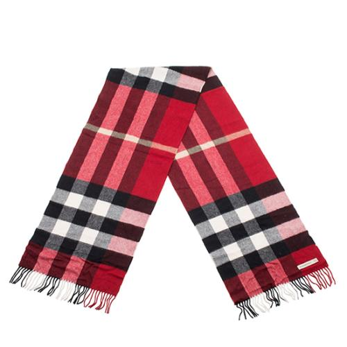 Burberry Cashmere Classic Large Check Scarf