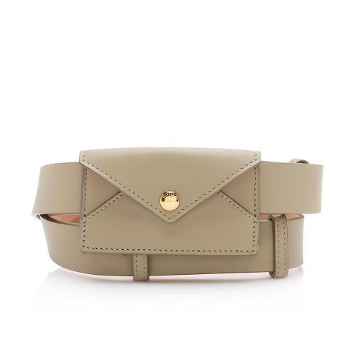 Burberry Leather Envelope Belt Bag - Size 36 / 90