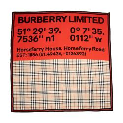 Burberry Silk Vintage Check Horseferry 90 cm Scarf