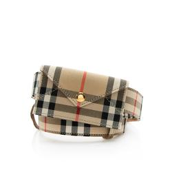 Burberry Vintage Check Envelope Belt Bag - Size 26 / 65