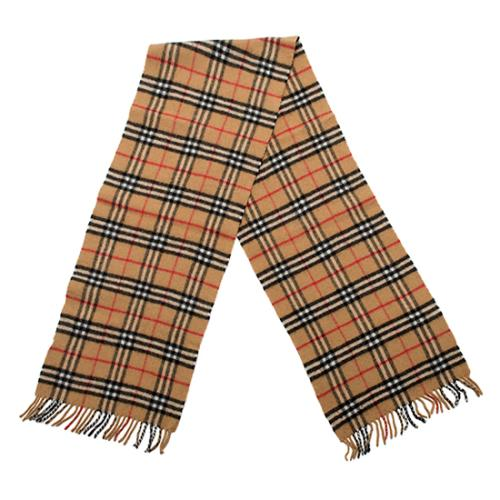 Burberry Vintage Wool Check Scarf