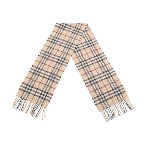 Burberry Wool Angora Cashmere Nova Check Scarf