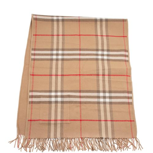 Burberry Wool Cashmere St. Helene Pocket Scarf