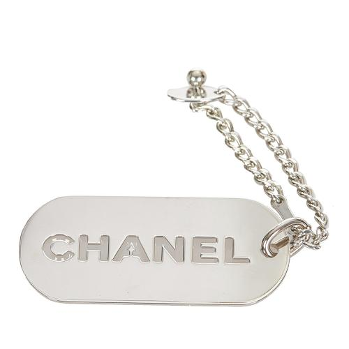 Chanel Logo Plate Key Chain