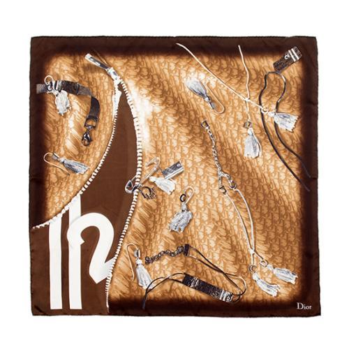 Dior Silk Logo Scarf