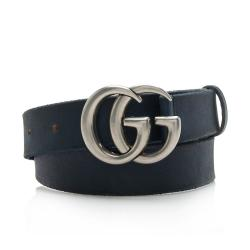 Gucci Distressed Leather GG Marmont Belt - Size 32 / 80