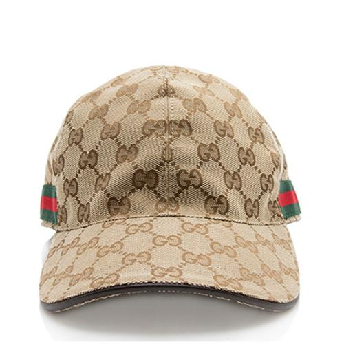 Gucci GG Canvas Web Original Baseball Hat - Size S