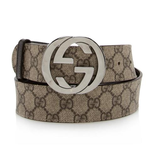 Gucci GG Supreme Belt - Size 34 / 85