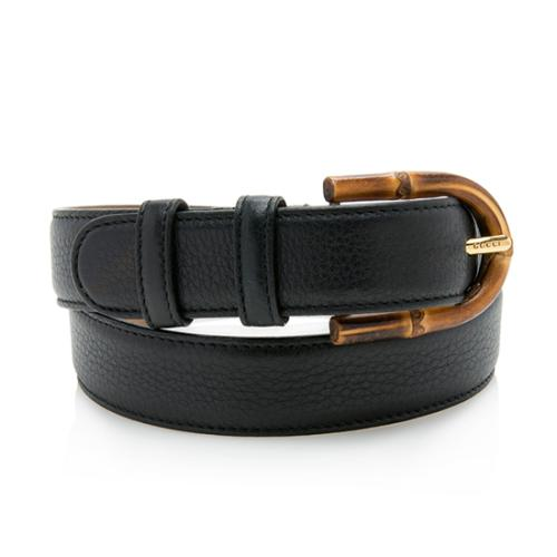 Gucci Leather Bamboo Buckle Belt - Size 30 / 75