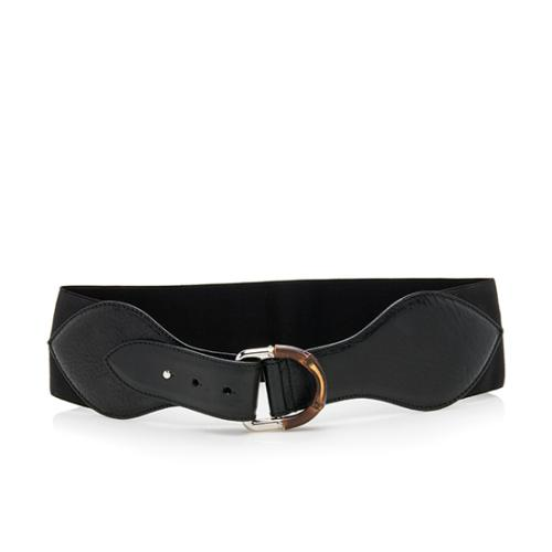 Gucci Leather Bamboo Buckle Waist Belt - Size 30 / 75
