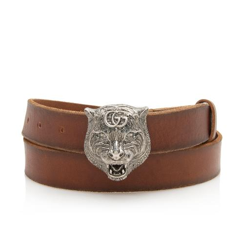 Gucci Leather Feline Belt - Size 36 / 90
