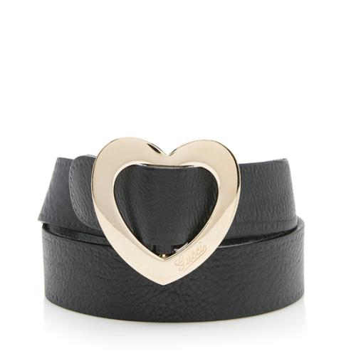 Gucci Leather Heart Belt - Size 32 / 80