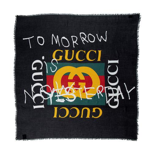 Gucci Modal Silk Tomorrow Is Now Yesterday Scarf
