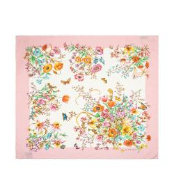 Gucci Silk Flora Print Scarf