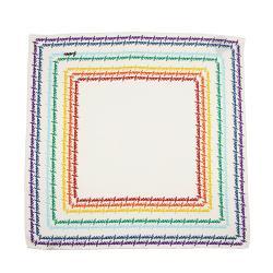 Gucci Silk Rainbow Script Scarf - FINAL SALE