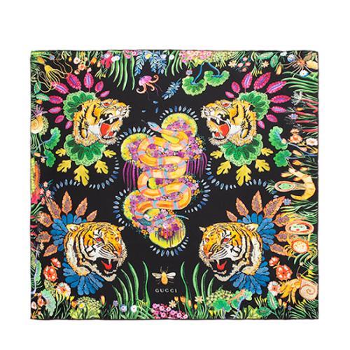 Gucci Silk Tiger Kingsnake Scarf