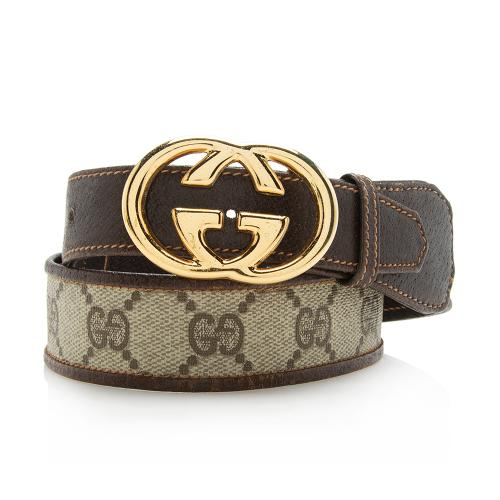Gucci Vintage GG Supreme Interlocking GG Waist Belt - Size 32 / 80