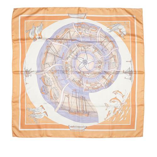Hermes Silk Compagnons de Mer Scarf