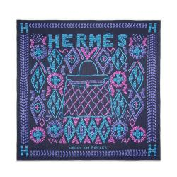 Hermes Jersey Silk Kelly En Perles 90cm Scarf