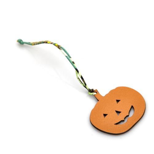 Hermes Leather Petit H Pumpkin Bag Charm