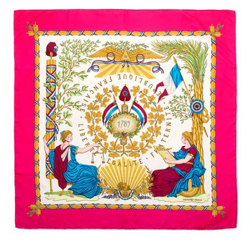 Hermes Silk 1789 Liberte Egalite Fraternite Scarf