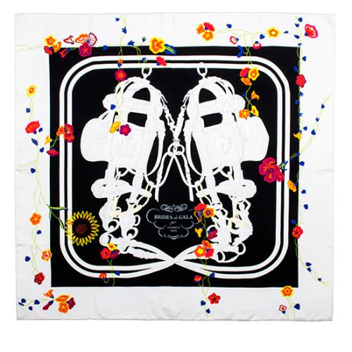 Hermes Silk Brides Fleuries Scarf