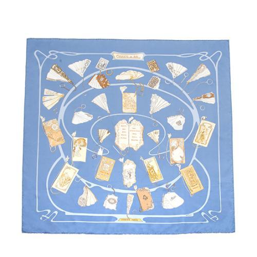 Hermes Silk Carnets De Bal Scarf
