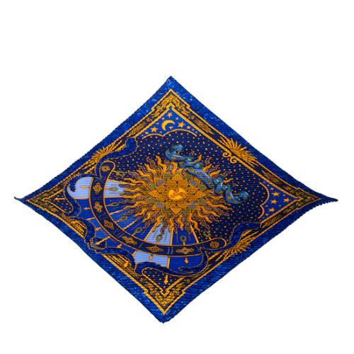 Hermes Silk Carpe Diem Plisse Scarf