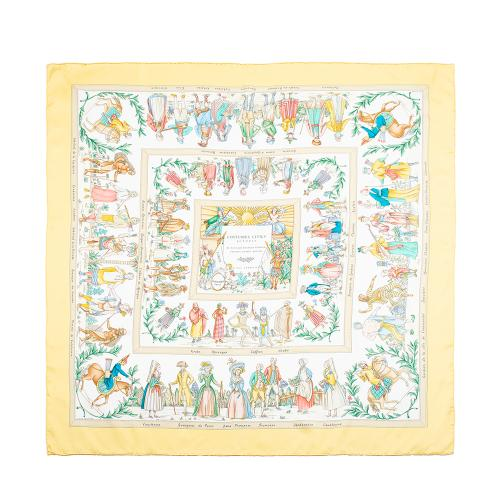 Hermes Silk Costumes Civils Actuels Scarf