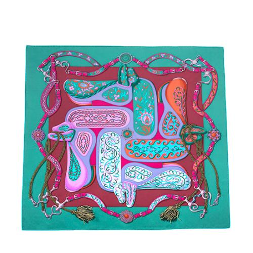 Hermes Silk Festival des Amazones Scarf