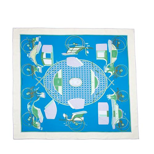 Hermes Silk Les Voitures A Transformation Scarf