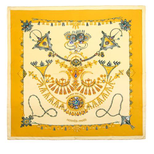 Hermes Silk Parures Des Sables Scarf