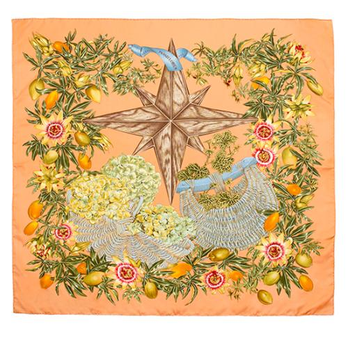 Hermes Silk Passiflores Scarf