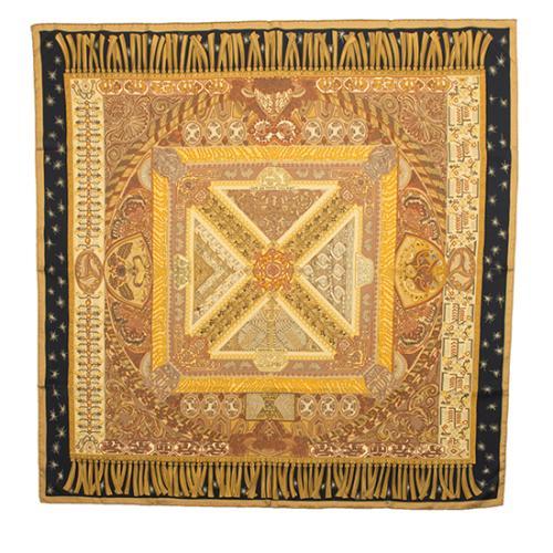 Hermes Silk Sur un Tapis Volant Scarf