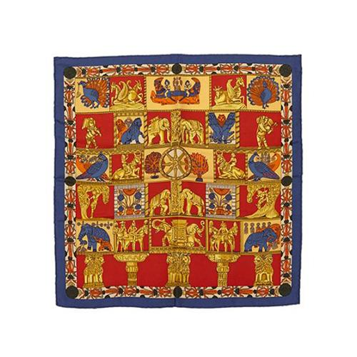 Hermes Silk Torana Pocket Square Scarf