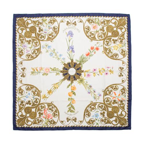 Hermes Vintage Silk Arabesques Silk Scarf