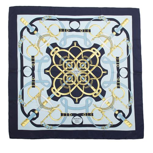 Hermes Vintage Silk Eperon d'Or Scarf - FINAL SALE